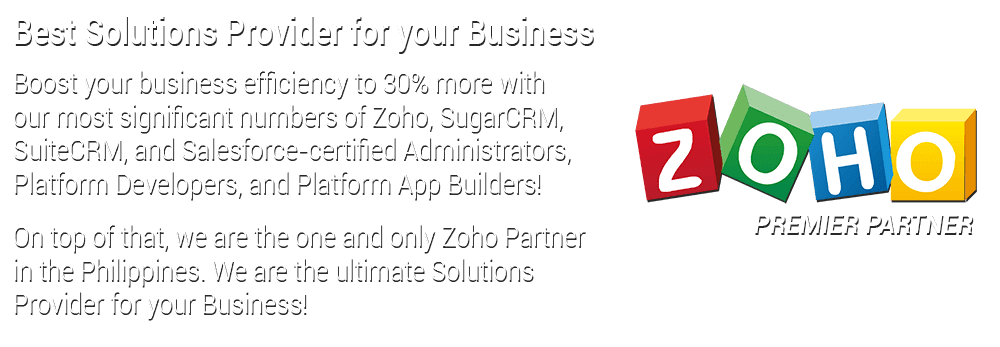 Best solutions provider for your business zoho exclusive partner in the philippines
