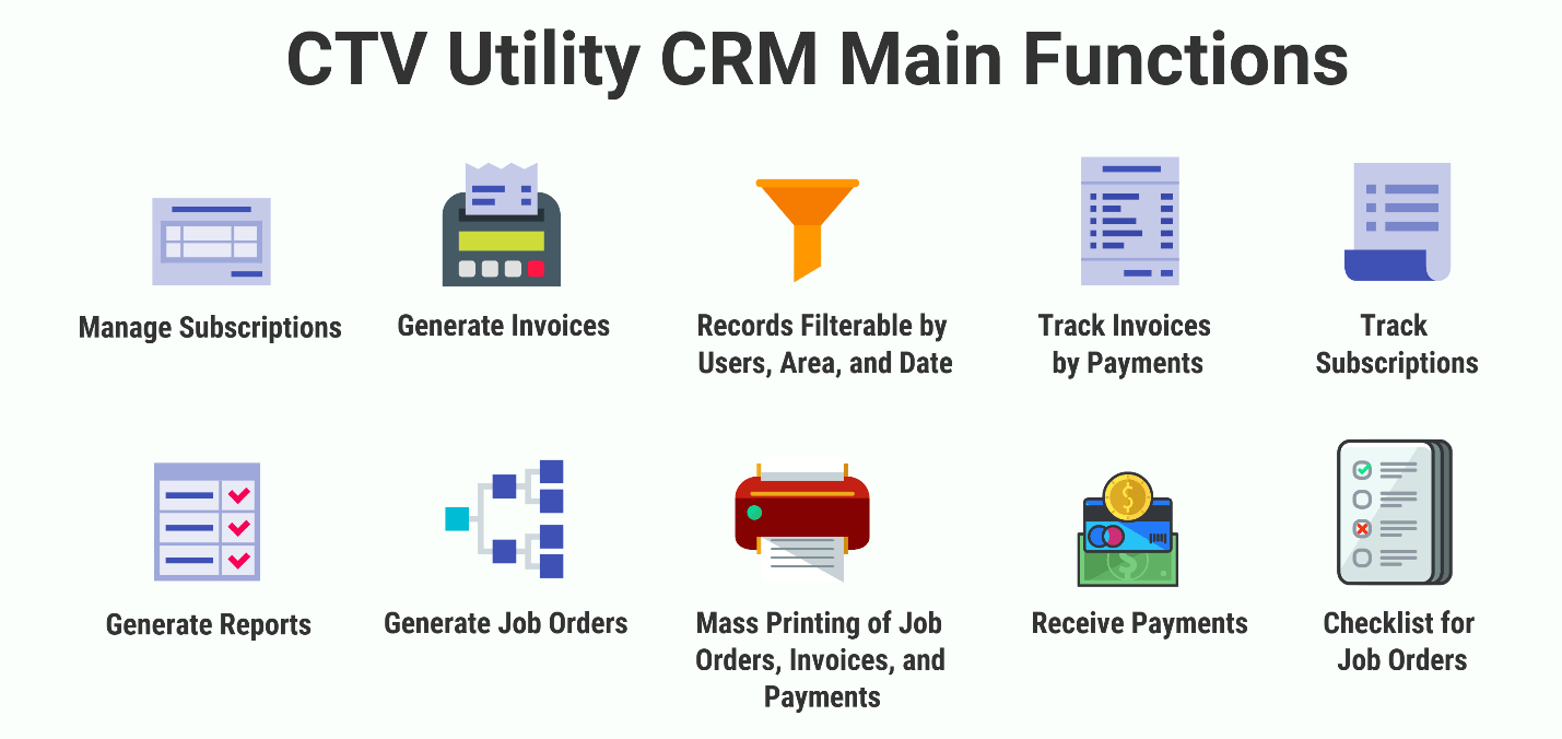 CTV Utility CRM Main Functions