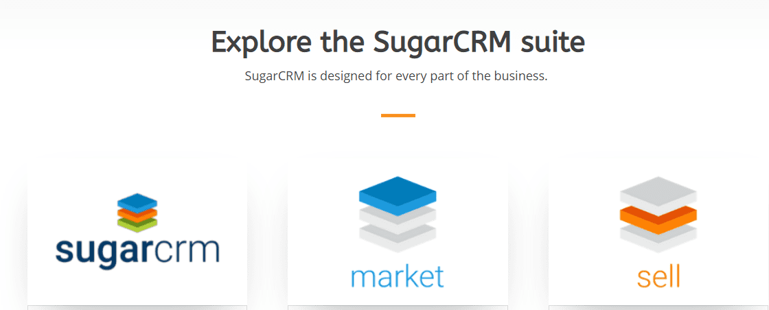 Explore the SugarCRM suite